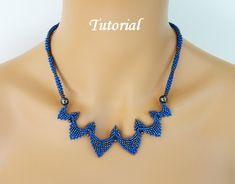 PDF for Sydney Necklace Beading PatternTutorial - beaded seed bead jewelry - beadweaving. $7,95, via Etsy.