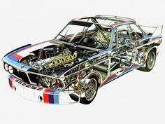 1971 BMW 3_0 CSL Race Car E-9 racing interior engine f wallpaper background