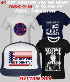 Trump Election Items ON SALE NOW! #vote