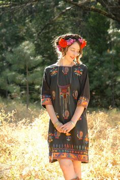 Vintage Boho Folk Dress... Embroidered Hippie by AstralBoutique, $68.00