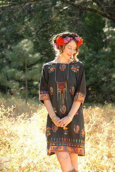 Vintage Boho Folk Dress... Embroidered Hippie by AstralBoutique, $68.00