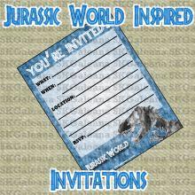 Invirtations Free Printable | Jurassic World Printables, Activities and Crafts | SKGaleana