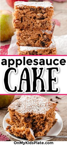 The absolute best applesauce cake! Warmly spiced with fall flavors, this easy old fashioned recipe will be a hit at your table.