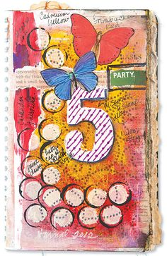 Make a statement with your favorite number in your art journal!