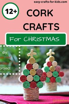 Get saving those wine bottle corks, as you can use them for lots of cork crafts for Christmas! Make Christmas decor, cork reindeers, tree ornaments and more! #christmascrafts #corkcrafts