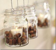 acorns for fall decorating