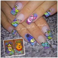 One of my favourite design on nails, the original one is from @sugarcharmshop