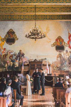 santa barbara courthouse mural room wedding photographer