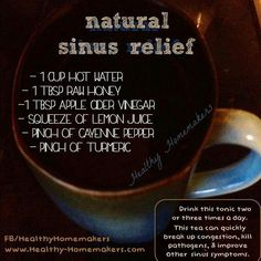 Natural Sinus Relief -- sounds nasty but if I get desperate.......