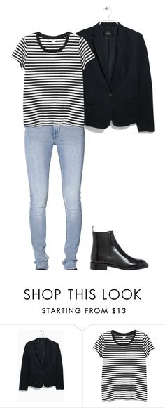 """""""Geen titel #48"""" by rrroomy ❤ liked on Polyvore featuring MANGO, Monki and Yves Saint Laurent"""