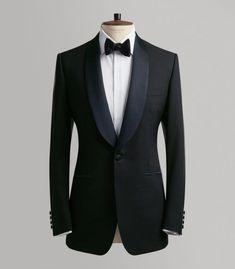 Huntsman Midnight Blue Merino Wool Evening Suit