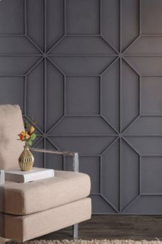 AND IT CAN MAKE ARTWORK UNNECESSARY. Beautifully designed paneled walls can make additional artwork completely unnecessary because the walls are art themselves. Wall Printables, Wall Paneling Diy, Interior Cladding, Bedroom Wall, Contemporary Wall, Wall Molding, Home Decor, Wall Design, Interior Wall Design