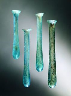 Roman glass unguentarium, century CE , From Pompeii. Ancient Rome, Ancient History, European History, Ancient Aliens, Ancient Greece, American History, Art Antique, Antique Glass, Historical Artifacts