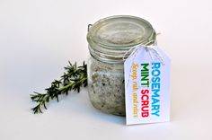 Make Life Lovely: Rosemary and Mint Sugar & Salt Scrub + Free Printable Tags