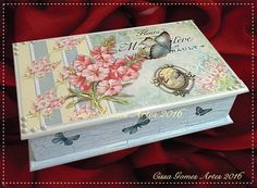 Roxy, Decorative Boxes, Shabby, Vintage, Home Decor, Decorated Boxes, Hand Crafts, Painted Boxes, Wood Boxes