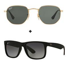 66f44acb8 óculos de sol ray ban aviador, justin, hexagonal Aproveite essa oferta  Escolha já o