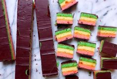 Gluten-Free, Dairy-Free 7-Layer Rainbow Cookies | Silvana's Kitchen