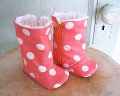 Baby Shoe Pattern  PDF   Zipper Boots with Optional by winterpeach. , via Etsy. -If only Maxi was a chick!