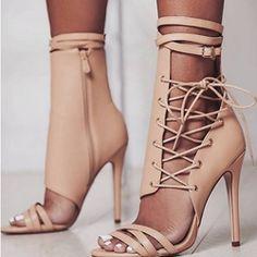 awesome Fashion Cross Strap Stiletto Heel Dress Sandals