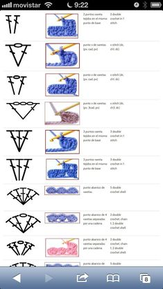Most recent Pic Crochet slippers diagram Thoughts Häkel-Zeichen 8 Crochet Stitches Chart, Crochet Stitches For Beginners, Crochet Square Patterns, Crochet Diagram, Crochet Basics, Filet Crochet, Crochet Motif, Diy Crochet, Learn To Crochet