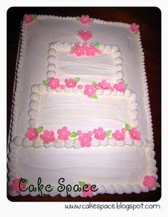 sheet cakes with shoes on them | Wendys Cake Space: Bridal Shower Cake... Sheet Cake Decorated Like ...