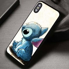 Art Drawing Cute Animal Lilo and Stitch- iPhone X 8 7 SE Cases & Covers Funny Iphone Cases, Iphone Phone Cases, Iphone 7, Disney Phone Cases, Simple Wallpapers, Iphone Accessories, Lilo And Stitch, Iphone 8 Plus, Art Drawings