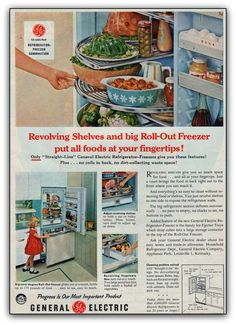 GE fridge with pyrex yummies inside!