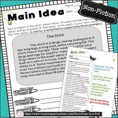 Students can practice identifying the main idea and supporting details through color coding. This resource gives students multiple opportunities to practice recognizing text organization. When students can see the organization of a written paragraph, they can more easily identify the main idea.