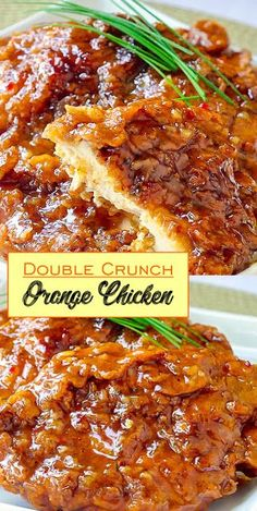 Double Crunch Orange Chicken - Cooking in the Kitchen Turkey Recipes, Meat Recipes, Asian Recipes, Chicken Recipes, Cooking Recipes, Healthy Recipes, Orange Chicken, Chipotle Chicken, Gastronomia