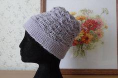 Wool Crochet Hat Tam Hat Lilac Super Cute Hat