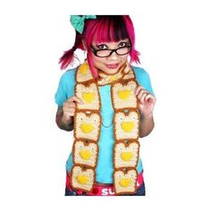 Awesome Toast u Butter Hearts Scarf