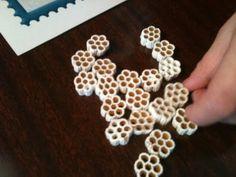 Snowflake pasta manipulatives for math.  A Differentiated Kindergarten