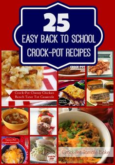 25 Easy Back To School Crock-Pot Recipes - Don't struggle with what to make for dinner when the kids go back to school. This collection of 25 Easy Back To School Crock-Pot Recipes is full of easy to make kid friendly dinners that everyone in the whole family will love! | CrockPotLadies.com