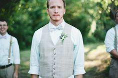 bow tie groomsmen looks http://www.weddingchicks.com/2013/10/24/colorful-eclectic-wedding/