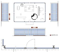 Philip Johnson - Glass House 2D Philip Johnson Glass House, Farnsworth House, Architecture Drawings, House Architecture, Ludwig Mies Van Der Rohe, Minimalist Home, House Plans, Floor Plans, Flooring