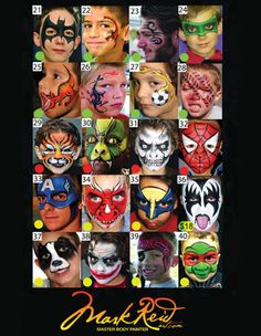 Face Painting Board On Pinterest Paintings Display Boards And Menu