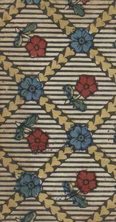 prints in paste paper :: Decorated Papers Original SourceCatholic Church. Officium in festo omnium sanctorum, ad instar breviarii romani sub Urbano PP. Matriti CollectionDecorated and Decorative Paper Collection Textile Patterns, Print Patterns, Pattern Art, Pattern Design, Tableaux D'inspiration, Morris, Paper Decorations, Bookbinding, Repeating Patterns