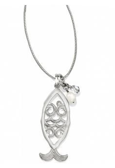 Brighton fish necklace available at Ear Abstracts Boutique