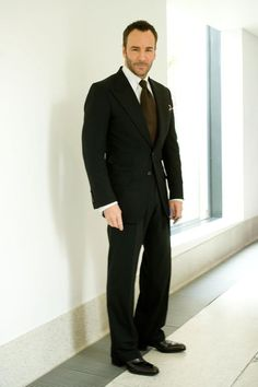 Not only is Tom Ford beyond sexy but so are his clothes! My husband will have to own at least 5 Tom Ford suits ! Sharp Dressed Man, Well Dressed Men, James Bond Skyfall, Tom Ford Suit, Bespoke Clothing, Men's Day, Costume, Black Suits, Suit And Tie