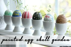 Bring the outdoors in with a super cute Painted Egg Shell Garden!  Perfect for crafting with kids and for teaching them about planting too!