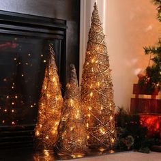 Style your home this holiday seasons with our Pre-Lit Bronze Christmas Trees! #Kirklands #HollyJolly #holidaydecor