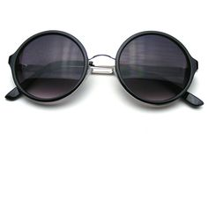 7d72c3f8bf Classic Round Retro Circle Metal Bridge BoHo Sunglasses ❤ liked on Polyvore  featuring accessories