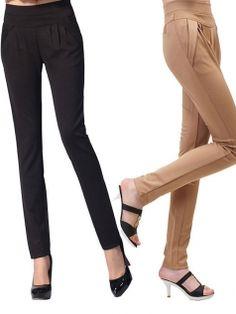 Women's Leisure Middle Waist Harem Pencil Pants