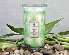 ***Bamboo Rain Candle*** Enjoy the fresh fragrance of a watery, floral intertwined with a modern clean bamboo heart and a smooth, musky hyacinth background. Classic Candles, Aroma Beads, Jewelry Candles, Luxury Candles, Candle Wax, Diy Projects To Try, The Fresh, Scented Candles, Mason Jars