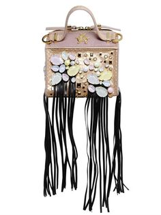 GIANCARLO PETRIGLIA SWAROVSKI CRYSTALS MINI CLARI ELAPHE BAG, MULTICOLOR. #giancarlopetriglia #bags #leather #lining #shoulder bags #crystal #hand bags #cotton #