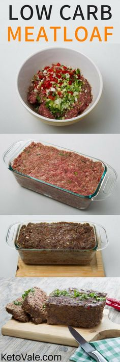 Low Carb Keto Meatloaf Recipe using beef, tomato puree, and flaxseed flour