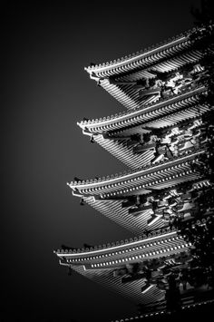 Sensoji in a different light: Five story pagoda in Asakusa, Tokyo, Japan