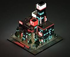 Image result for street corner dark voxel