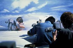 Find out more about AT-ATs, the All Terrain Armored Transport vehicles found on Hoth in Star Wars: The Empire Strikes Back. Princesa Leia, Star Wars Love, The Empire Strikes Back, Matte Painting, Scene Photo, Star Wars Episodes, Stop Motion, Far Away, Behind The Scenes