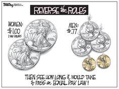 Editorial Cartoon: Equal Pay